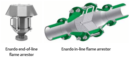 Enardo Flame Arrestor Types
