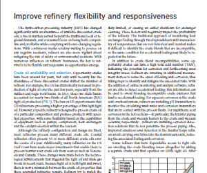 Increasing Refinery Flexibility to Handle Wide-Ranging Feedstocks