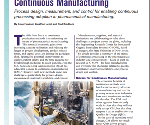 Overcoming Pharmaceutical Continuous Manufacturing Challenges
