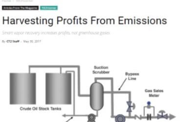 Smart Vapor Recovery for Oil & Gas Production Process Emissions
