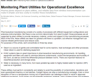 Improving Pharmaceutical and Biotech Plant Utility Performance