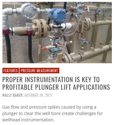 Flow Control: Proper Instrumentation is Key to Profitable Plunger Lift Applications