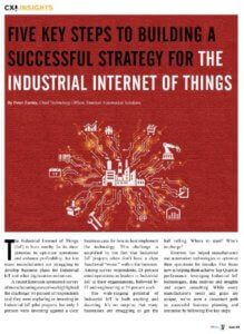 CIOReview: Five Key Steps To Building A Successful Strategy For The Industrial Internet Of Things