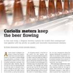 Beer Pipeline and Coriolis Flow Measurement Technology